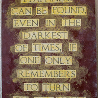 "Harry Potter quote painting - 9.5"" x 12"" - Happiness can be found even in the darkest of times, if one only remembers to turn on the light"