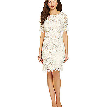 Antonio Melani Edith Floral Lace Dress - Ivory
