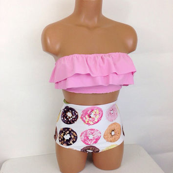 Donut ruffle retro bathing suit