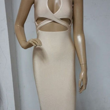 Bex Slice NUDE Dress
