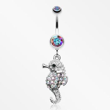 Adorable Baby Seahorse Belly Button Ring