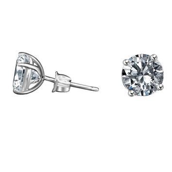 2ct Simulated Diamond-diamond Veneer Stud Sterling Silver Earrings 635E200