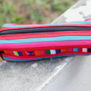 Red pencil bag coin purse wallet Hmong bag Thai bag Thai money bag/ Bags and Purses/pencil pouch/Pen bag/Cotton Purse/pen pouch/Card Bags