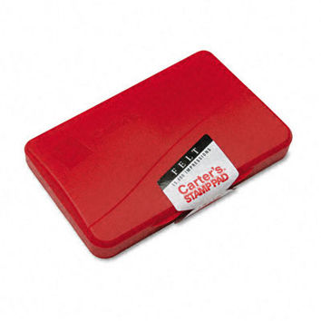 felt stamp pad 4.25w x 2.75d red Case of 12