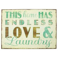 Endless Love & Laundry Tin Sign | Hobby Lobby | 1040625