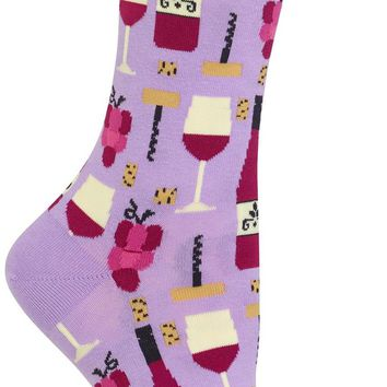 Fine Wine Women's Crew Socks