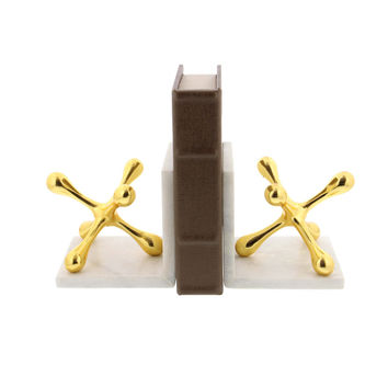 Alluring Aluminium Bookend With Marble Finish