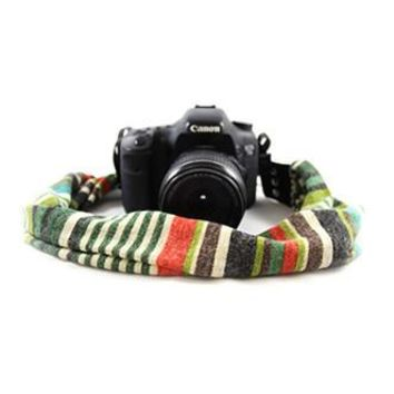 Willow Stripe Scarf Camera Strap - Capturing Couture - CASCARF-WILO