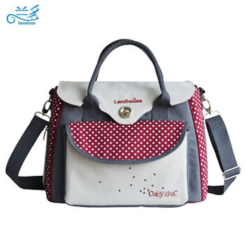 Landuo baby diaper bags baby nappy bag mummy maternity bag lady handbag messenger bag diaper shoulder bolsa maternidade