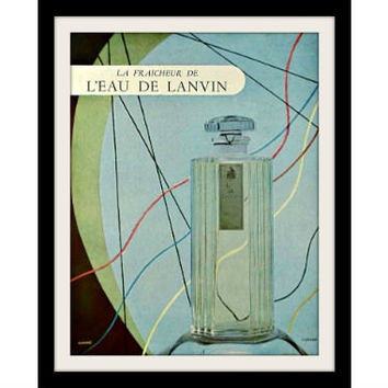 1946 LANVIN French Perfume Ad Vintage Advertisement Print