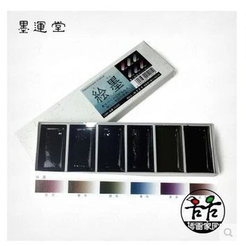 Japanque ink Yun Tong painted ink color chameleon ink paints watercolor Chinese pigments 6 color Drawing painting Art Supplies