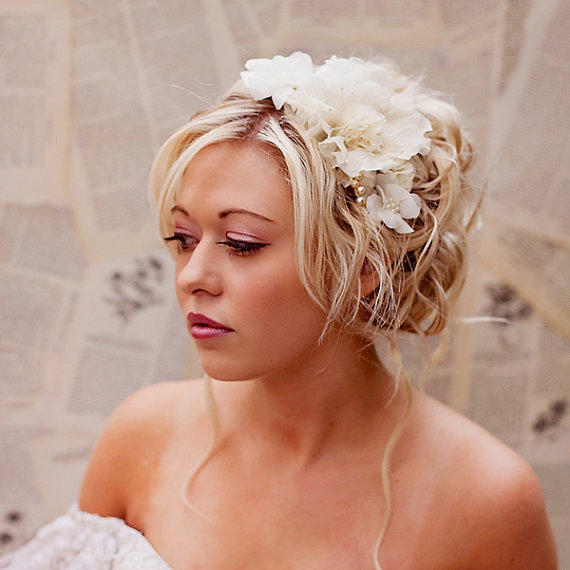 hair wedding styles with flowers wedding hair accessories champagne from florabond live 9028