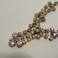 14 inch Rhinestone V-shaped Necklace