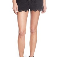 Paige Denim 'Paxton' High Rise Eyelet Cotton Shorts | Nordstrom