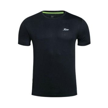 DCCKHN1 XTEP Brand 2016 Summer Outdoors Running T-shirts 100% Polyster Tops Fit Sports Shirt Quick Dry Men Shirt Sportswear 884229019103