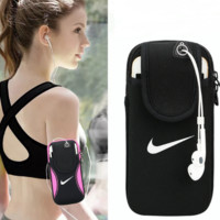NIKE Universal Sports Running Jogging Gym Nike Armband Arm Band Holder Bag For Iphone Samsung Huawei
