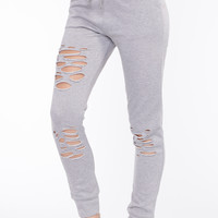 Distressed Drawstring Jogger