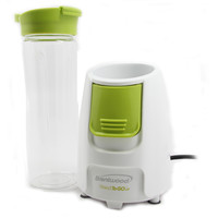 Brentwood Appliances JB-196 Blend-To-Go Blender, White Body with Green Button