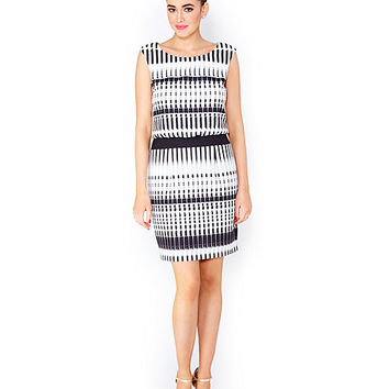 MOD BETSEY BLOUSANT DRESS IVORY-BLACK
