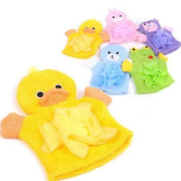 1PCS Cute Children Baby shower bathing bath towel 5Colors Animals Style Shower Wash Cloth Towels