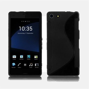 S-Line TPU Silicone Skin Case Cover For Sony XPERIA Z3 Mimi Compact  Dust-proof mobile phone shell 9.6