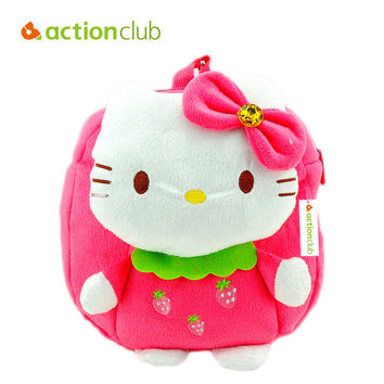 Actionclub Children Plush Backpack Cartoon Bags Baby Toy Kids School Bag Hello Kitty Bags Kindergarten Girl Kawaii Stuffed Doll