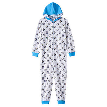 Girls 4-12 TY Beanie Boo's Waddles One-Piece Thermal Pajamas