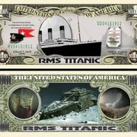 The Titanic Million Dollar Collectible Bill