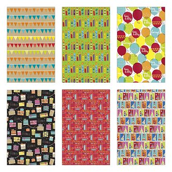 Papercraft Premium Heavyweight Gift Roll Wrap Assortment - 20sqft Birthday