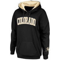 Colorado Buffaloes Stadium Athletic Women's Arch Name Pullover Hoodie - Black