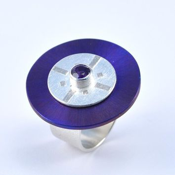 Titanium, Silver and Gold Titan Collection Ring