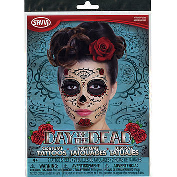 Day Of The Dead Temporary Face Tattoos | Hot Topic