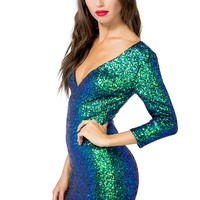 Mermaid Sequined Bodycon Dress