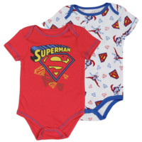 Superman Newborn Baby's Superman 2-Pack Creeper Set