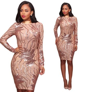 Sequins Gold Open Party Dress