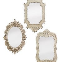 PLASTICLAND - Set of 3 Antiqued Vintage Style Mirrors