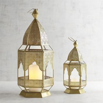 Caravan Golden Metal Lanterns