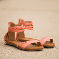 The Brooke Sandal, Coral