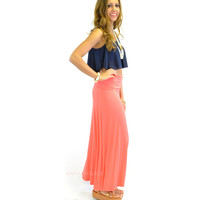 Summerland Coral Maxi Skirt