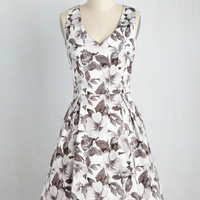 Fabulously Established Dress in Monochrome | Mod Retro Vintage Dresses | ModCloth.com