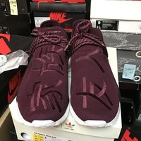 PEAPES5 Adidas NMD Pharrell HU Friends and Family Burgundy BB0617