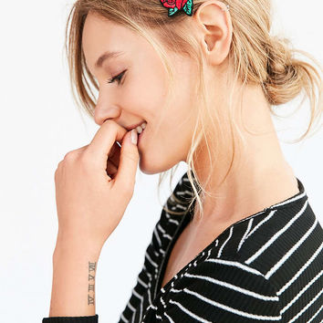 Embroidered Patch Hair Clip - Urban Outfitters