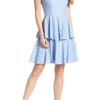 Gal Meets Glam | Daisy Lace Tiered Fit & Flare Dress (Nordstrom Exclusive) | Nordstrom Rack
