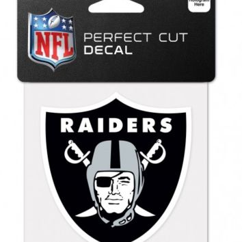 Oakland Raiders 4X4 Perfect Cut Decal By Wincraft