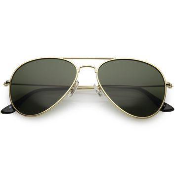 Original Classic Metal Military Aviator Sunglasses 1041 58mm