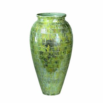 Appealing Mosaic Glass Vase, Multicolor By Benzara