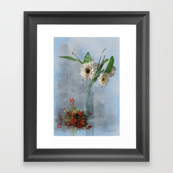 Wildflower Still LIFE Framed Art Print by Theresa Campbell D'August Art