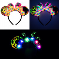 World of Color Disney Ears Headband, Mouse Ears, LED Headband, Mickey Mouse Ears, Minnie Mouse Ears, Disney Bound, Disneyland, Disney World