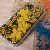 iPhone 6 case iPhone 6 plus Pressed Flower, iPhone 5/5s case, iPhone 4/4s case, 5c case Galaxy S4 S5 Note 2 note 3 Real Flower case NO:F510