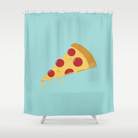 Pizza Shower Curtain by brittcorry